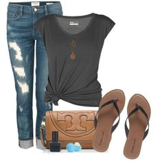 50+ Head-turning Casual Outfit Ideas for Teenage Girls 2017  - Is there anyone who does not like the casual style? Of course not and it is almost impossible to find someone who says yes. Casual outfits are easy to... -  casual-outfit-ideas-for-teens-2017-27 .