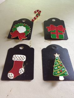 Metal Holiday Pins - pinned by pin4etsy.com