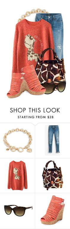 """""""Giraffe Print (3)"""" by queenrachietemplateaddict ❤ liked on Polyvore featuring Vera Bradley, White House Black Market, Dooney & Bourke, Kay Unger New York and Charles by Charles David"""