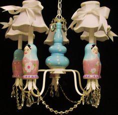 This chandelier of matryoshka dolls is fantastic!