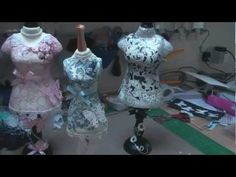 MINIATURE DRESS FORMS       ▶ Decorating Dress Forms (card-making-magic.com) - YouTube