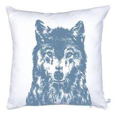 Kissen Wolf Leinen Siebdruck Unsere Kissen sind für 59,00€ im Onlineshop auf Frohstoff.de erhältlich.