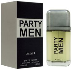 About Party Men Top Notes Spices, Petitgrain, Lavendar, Green Notes, Grapefruit and Bergamot   Heart Notes Ginger, Gardenia, Violet, and saga   Base Notes Labdanum, Sandalwood, Musk, Guaiac wood, Vetiver and Incense