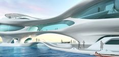 The 2500 sq. meter marine research center would be located 150 meters ahead in the sea near the Kuta beach. It has a fluid structure that a...