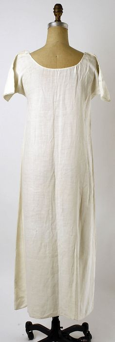 Chemise Date: third quarter 18th century  Culture: French  Medium: linen  Dimensions: [no dimensions available]