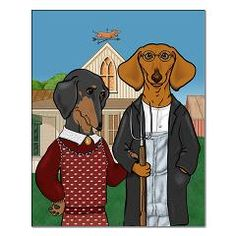American Doxic 16x20 Small Poster> DACHSHUND POSTER PRINTS> Dogs, Cats, Creatures and Critters by Terry Pond