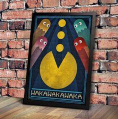 Pac-Man estilo Art Deco Arte por GeekOnFire en Etsy