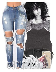 """😛😛get with the winning team"" by g0ldenchicaa ❤ liked on Polyvore featuring Givenchy, Sterling Essentials and adidas"