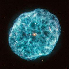 This new image from Hubble's Wide Field Planetary Camera 2 showcases NGC 1501, a complex planetary nebula located in the large but faint constellation of Camelopardalis (The Giraffe).
