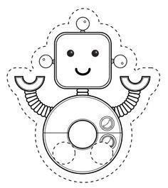 Little Robot Finger Puppet with Poem