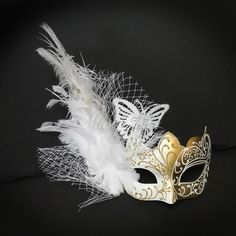 Gold Masquerade Mask, Masquerade Mask, Butterfly Mask, White/Gold Mask, Wedding Masquerade Mask, Mar Couples Masquerade Masks, Black Masquerade Mask, Masquerade Party, Butterfly Mask, Butterfly Gold, Butterfly Wedding, Horn Headband, Lace Mask, Carnival Masks