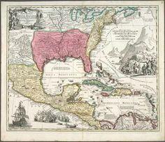 Regni Mexicani seu Novae Hispaniae, Floridae, Novae Angliae, Carolinae, Virginiae et Pensylvaniae necnon insularum archi... ([1759?]) #map #NorthAmerica #Caribbean