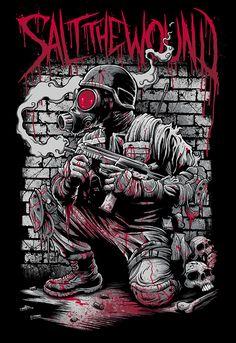 Stunning Horror Art by Brandon Heart - Gas Mask Art, Masks Art, Arte Horror, Horror Art, Art And Illustration, Cover Art, Dope Kunst, Arte Black, Creepy Pictures