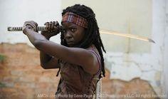 Sneak peak of Michonne in The Walking Dead...can't wait.