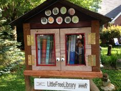 Emily Young. Durham, NC.  I have worked as a book publisher for 30 years and my husband is an artist who works with found materials. When I saw one of these in another neighborhood in my city I knew we had to become part of this movement. I love this micro form of book circulation. Our library has books for all ages--young readers, fiction, scholarly books.