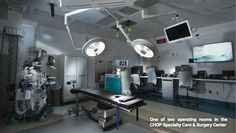 One of two operating rooms in the CHOP Specialty Care & Surgery Center