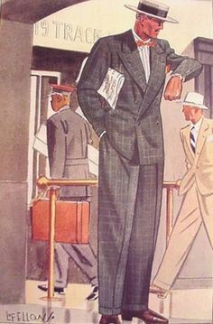 1935 Plaid Suit for Spring - 1930s men's clothing and fashion.