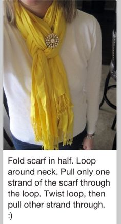 How to tie a scarf the fancy way.. I'm in love with scarfs now