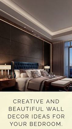 7 Creative and Beautiful Wall Decor Ideas for Your Bedroom — Best Architects & Interior Designer in Ahmedabad NEOTECTURE Home Decor Styles, Cheap Home Decor, Home Decor Accessories, Diy Home Decor, Hotel Pillows, Art Deco Home, Home Decor Paintings, Luxury Sofa, Small Rooms