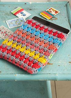 #Crochet  #iPad Cover                                Talleres Bordar/www.bordarvigo.com