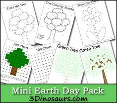 Free Mini Earth Day Pack: Dot Markers, 100 Charts & Tracing.
