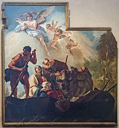 San Zaccaria G. Tiepolo Fuga in Egitto Capelle di Sant'Atanasio -