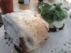 croque monsier + salada