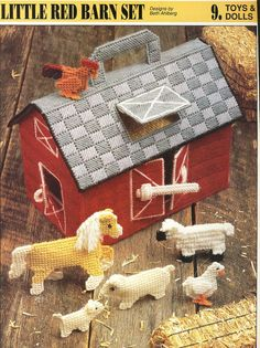 Little Red Barn Set Plastic Canvas Pattern by needlecraftsupershop, $3.50