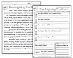 FREE Four levels are included in this Thanksgiving reading resource that will get encourage your students to interact with the text to prove their answers. (K-4)