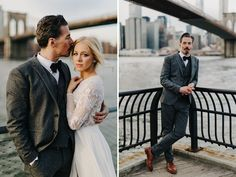 Brooklyn Wedding, this groom was also his brides hair stylist! Beautiful couple