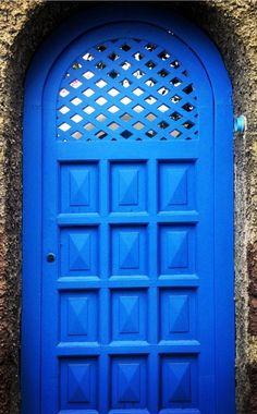 blue Capri, Italy door