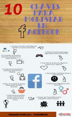 10 claves para molestar en FaceBook #infografia