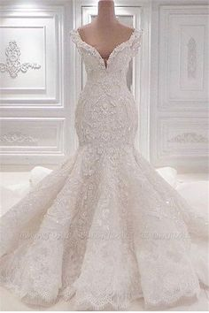 Luxurious Mermaid Lace Wedding Dresses Scoop Neck Full Lace Appliqued Crystal Long Cathedral Train Wedding Bridal Gowns is part of Wedding dresses shipping way dhl,epacket ,armax,ems occasion - White Lace Wedding Dress, Top Wedding Dresses, Lace Mermaid Wedding Dress, Mermaid Dresses, Bridal Dresses, Bridesmaid Dresses, Dhgate Wedding Dress, Modest Wedding, Unique Wedding Gowns