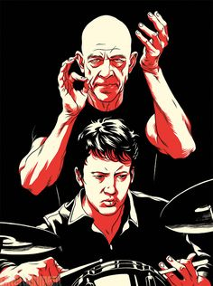 Whiplash (2014) is a 2014 American drama film written and directed by Damien Chazelle. A promising young drummer (Miles Teller) enrolls at a cut-throat music conservatory where his dreams of greatness are mentored by an instructor (J. K. Simmons) who will stop at nothing to realize a student's potential.