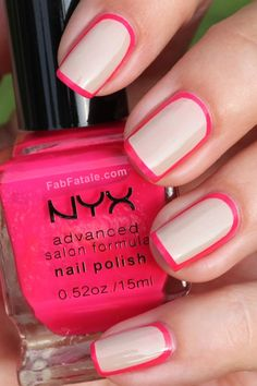 Framed nails - easy to do, looks classy