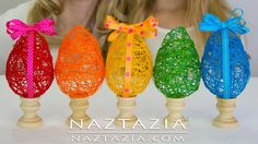 DIY - Learn How To Make a String Yarn Thread Egg - Easter Eggs Craft for...