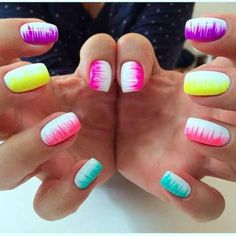Colorful Neon Colors Nail Art Ideas Just For You Emeliadesi .- Colorful Neon Colors Nail Art Ideas Just For You - Neon Nail Art, Neon Nails, Diy Nails, Cute Nails, Pretty Nails, Nail Nail, Rainbow Nail Art, Top Nail, Gorgeous Nails