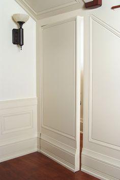 Secret Door - craftsman - Hall - Other Metro - Baird Brothers Fine Hardwoods Hidden Spaces, Hidden Rooms, Hidden Doors In Walls, Door Design, House Design, Tub To Shower Remodel, Secret Rooms, Room Doors, New Homes