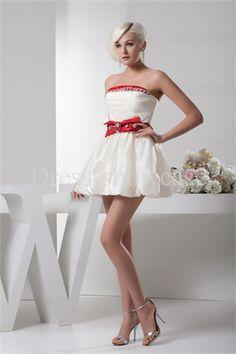Beading Sleeveless Homecoming White Mini Dress