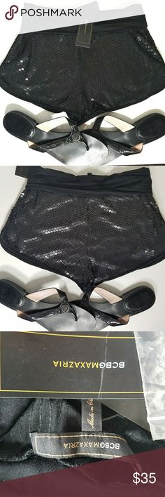 BCBG Black Sequin Hot Shorts Brand New Brand New With Tags. Perfect for The Summer or As A Bikini Coverup! BCBG Shorts