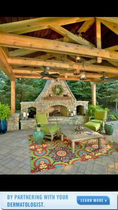 Decorative patio/fireplace/entertainment spot. I'll add to my wish list. Love the colors.