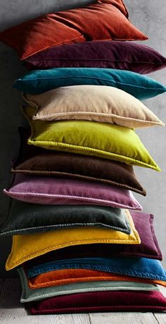 Find throw and accent pillows from Pottery Barn to easily update your space. Shop our pillow collection to find decorative pillows in classic styles, prints and colors. Jewel Tone Decor, Jewel Tone Colors, Jewel Tones, Jewel Tone Living Room Decor, Funky Home Decor, Unique Home Decor, Pottery Barn Curtains, Pottery Barn Pillows, Velvet Cushions