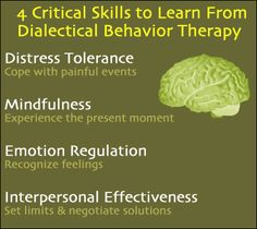 4 Skills to Learn from Dialectical Behavior Therapy