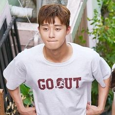 Evisu t Seo joonPark seo junSeo Korean Star, Korean Men, Asian Men, Asian Actors, Korean Actors, Baek Jin Hee, Oppa Gangnam Style, Park Seo Joon, Funny Expressions