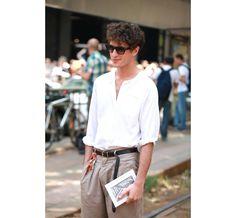 Street Looks à la Fashion Week homme printemps-été 2014 de Milan, Jour 1 http://www.vogue.fr/vogue-hommes/mode/diaporama/street-looks-a-la-fashion-week-homme-printemps-ete-2014-de-milan-jour-1/14017/image/779145#!24