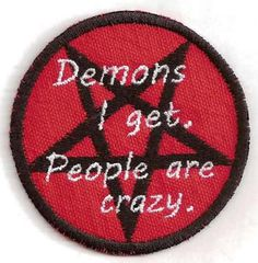 Supernatural Dean Winchester patch. Demons I get. People are crazy. $7.00