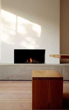 Minimalist Fireplace from Remodelista