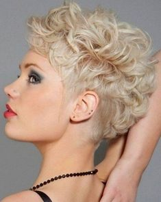 2015 Super Short Curly Hairstyles for Women