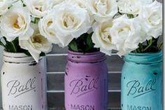 painted amp distressed mason jar, crafts, mason jars, repurposing upcycling, Brush on some craft store acrylic paint I used two coats
