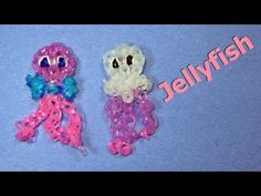 I will show you how to Make a Rainbow Loom Jellyfish. Thanks for watching! Rubber Band Charms, Rubber Band Bracelet, Rubber Bands, Loom Band Animals, Rainbow Loom Animals, Rainbow Loom Charms, Rainbow Loom Bracelets, Cute Crafts, Crafts For Kids